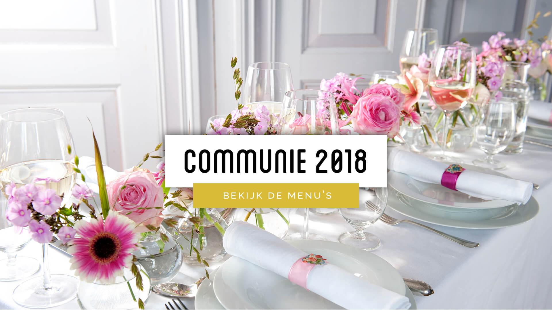 Traiteur Vincent - communie - feest - menu